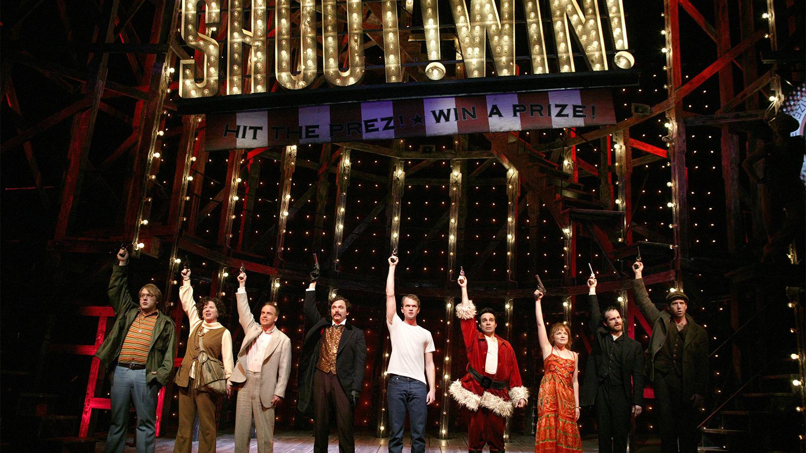 "The 2004 Broadway cast of ""Assassins"""