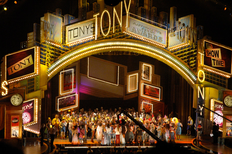 Rehearsals at the 2009 Tony Awards